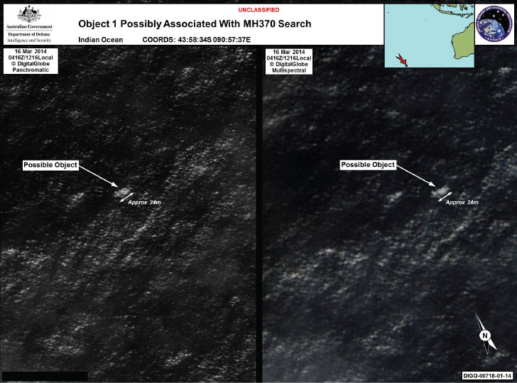 possible debris from MH 370