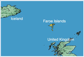 Map of the Faroe Islands - Nations Online Project