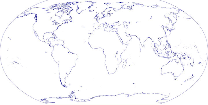 Small World Outline Map - Nations Online Project