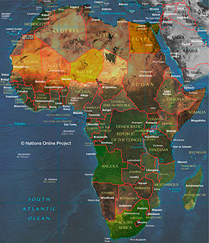Map Of Africa Map.Google Map Of Africa Nations Online Project