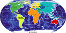 map of the continents of the world