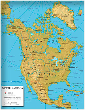Maps Of The World Political And Administrative Maps Of Continents - Simple map of eastern us