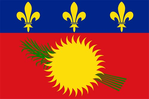 Guadeloupe local used Flag