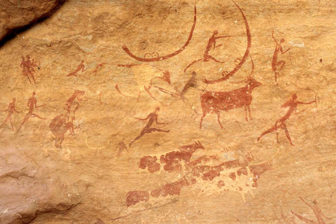 Cave paintings, Tasili n Ajjer, Algeria