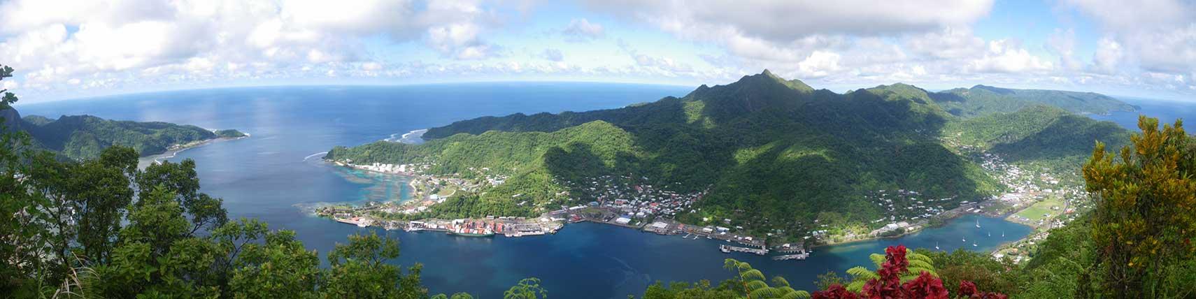 Google Map of Pago Pago Tutuila American Samoa  Nations Online