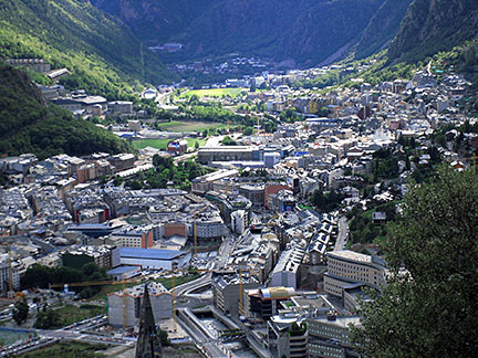 Google Map of Andorra la Vella Principality of Andorra Nations