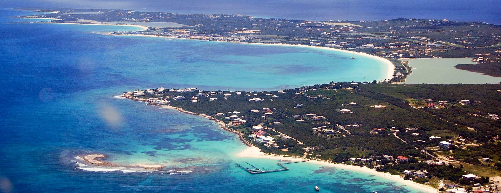 Aerial view of west Anguilla