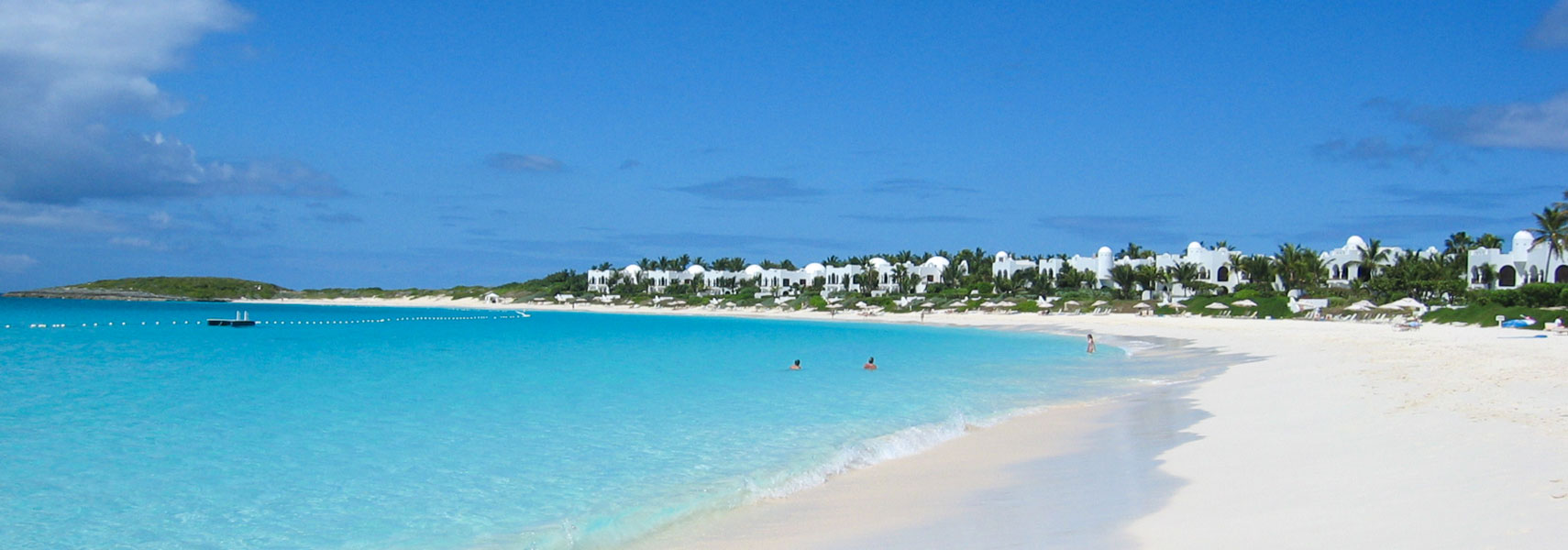 Beach at the Cap Juluca resort on Maundays Bay, Anguilla