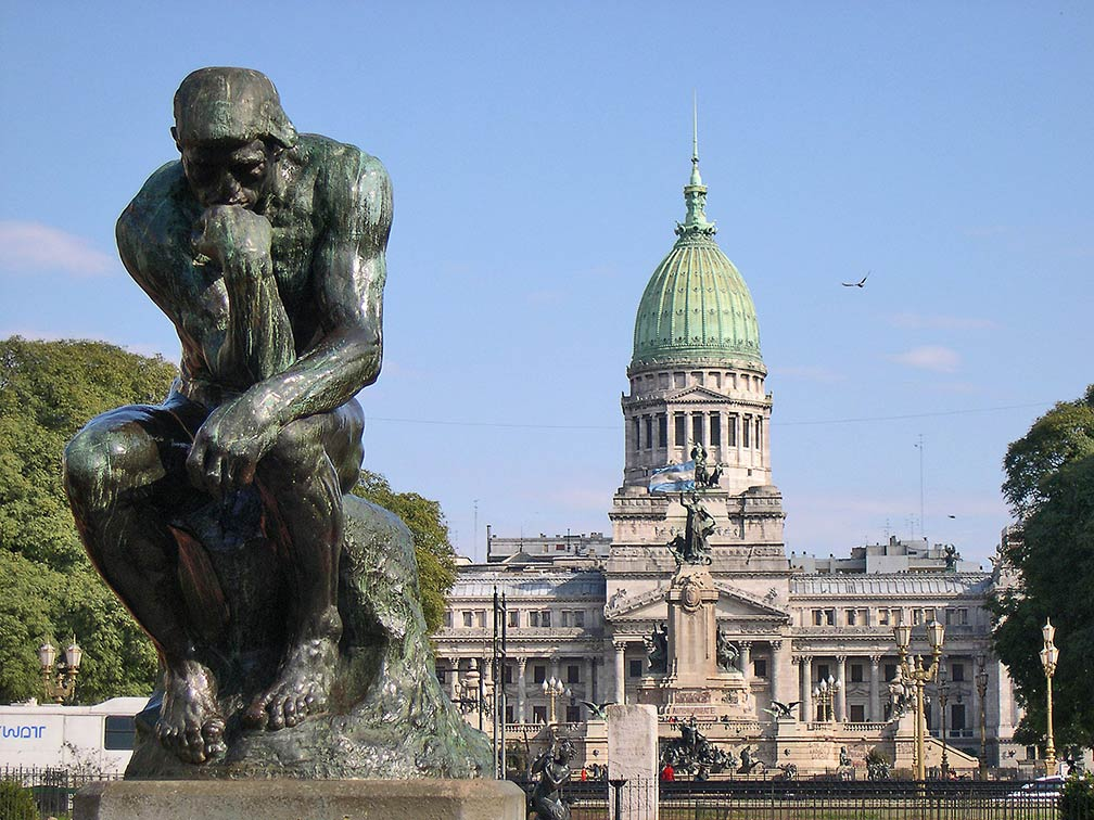 Rodin statue at the Plaza del Congreso, Buenos Aires