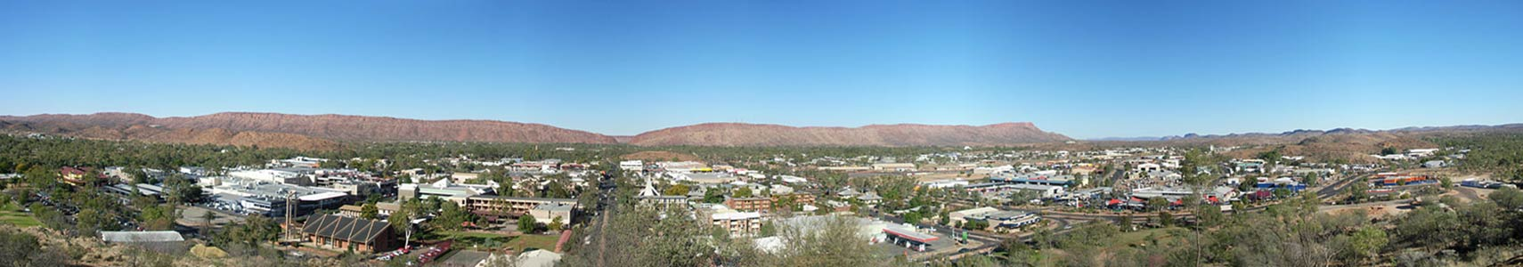 Panorama of Alice Springs, Northern Territory (NT), Australia