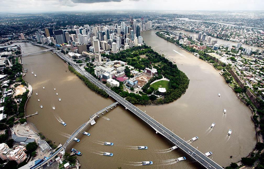 Google Map of Brisbane, Australia - Nations Online Project