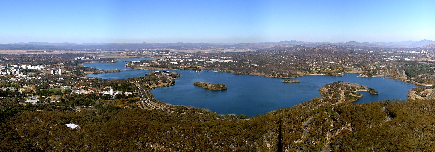 View of Canberra, Australia, from the Telstra Tower on Black Mountain