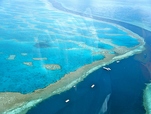 Aerial image Great Barrier Reef, Australia