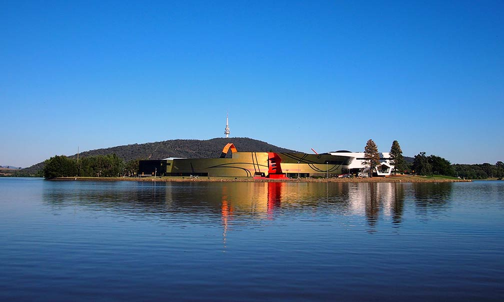 City of Canberra, National Museum of Australia at Lake Burley Griffen