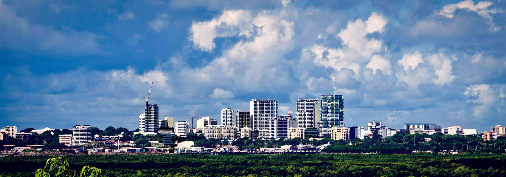Skyline of Darwin's Central Business District, Australia