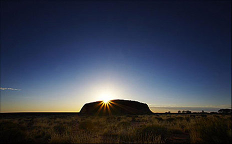 Annotated Google Map Of Ayers Rock Uluru Northern Territory