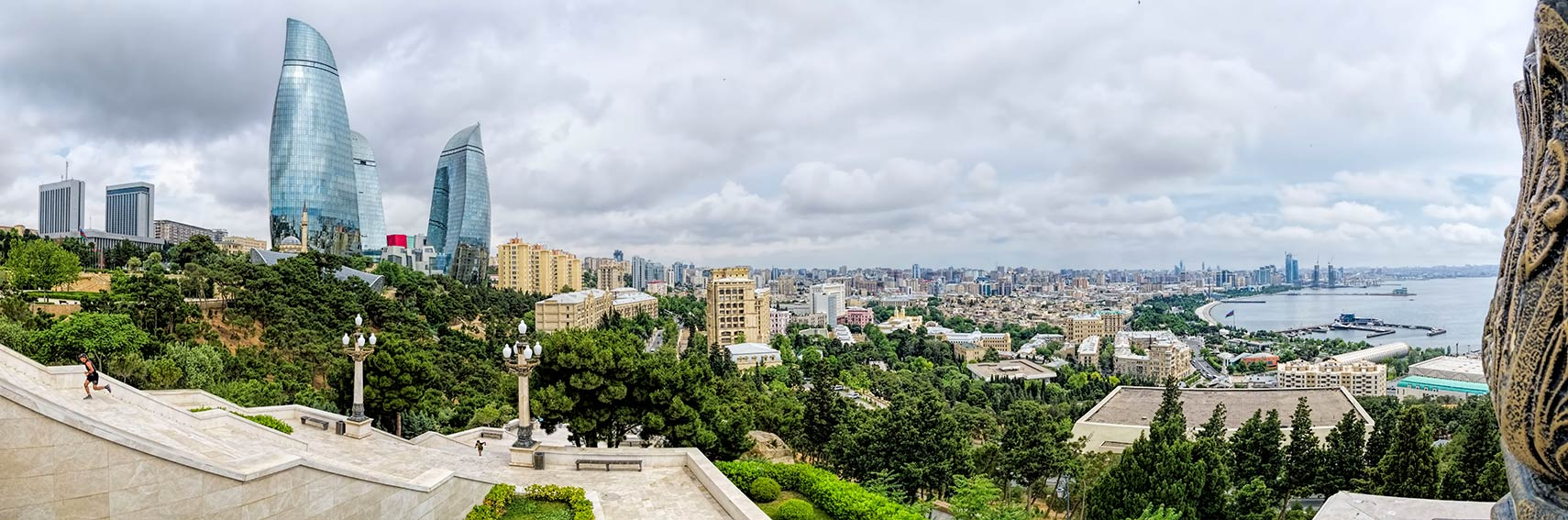 Panoramic view of Baku from Dağüstü Park