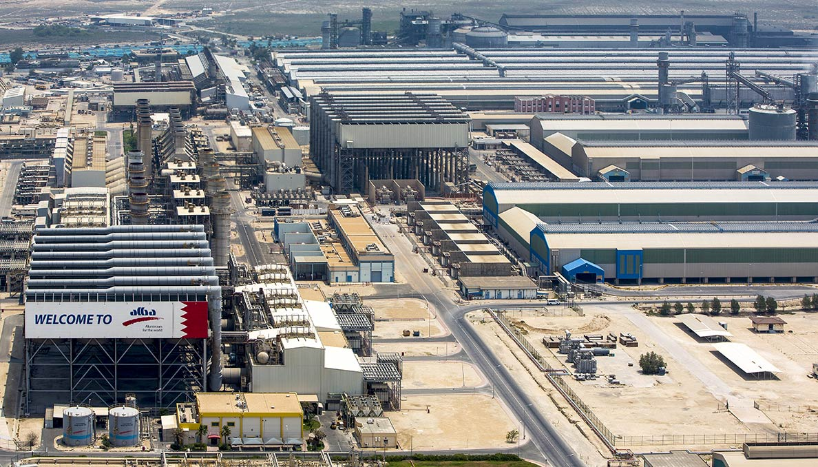 Alba, one of the largest aluminium smelters in the world, is located in Bahrain