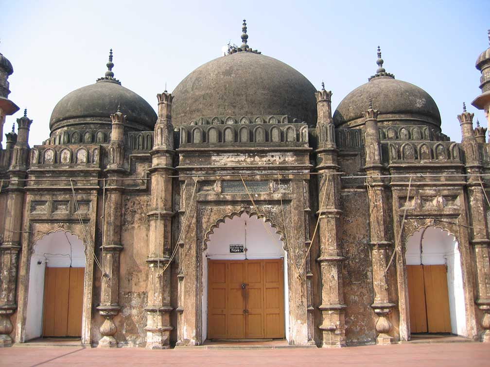 Domes of Khan Mohammad Mirdha Mosque in Old Dhaka