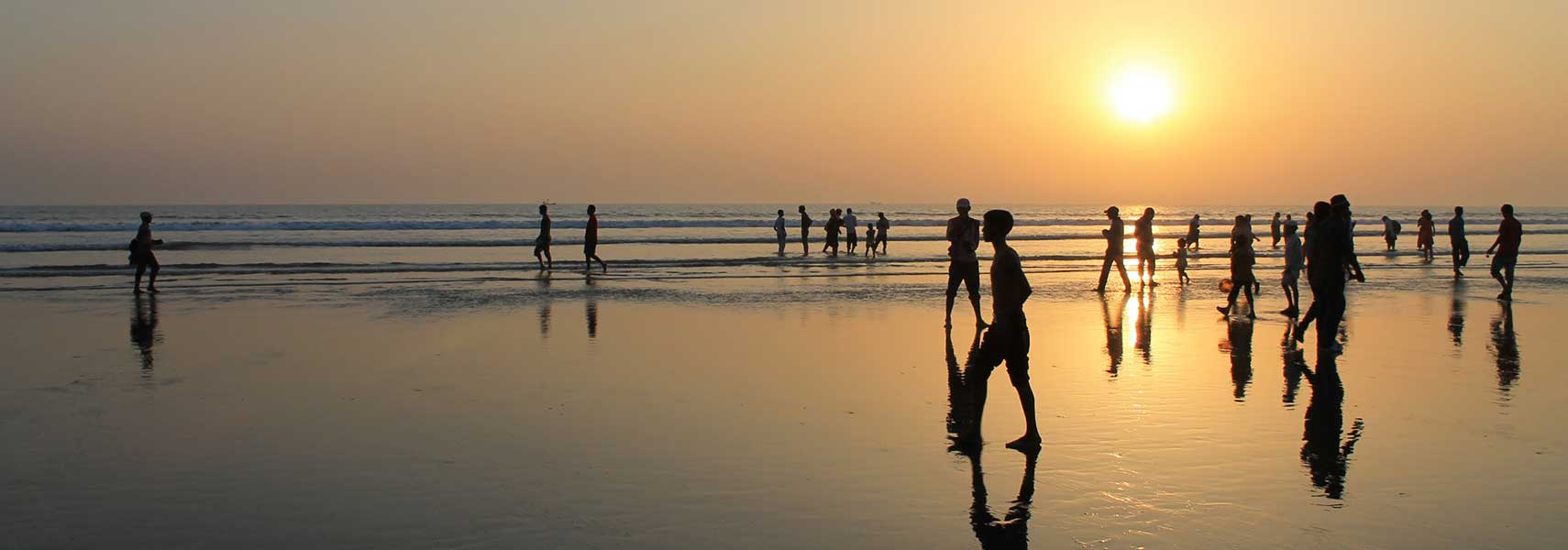 Sunset Cox's Bazar beach, Bangladesh