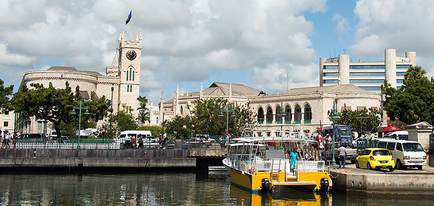 Barbados Parliment buildings and Central Bank