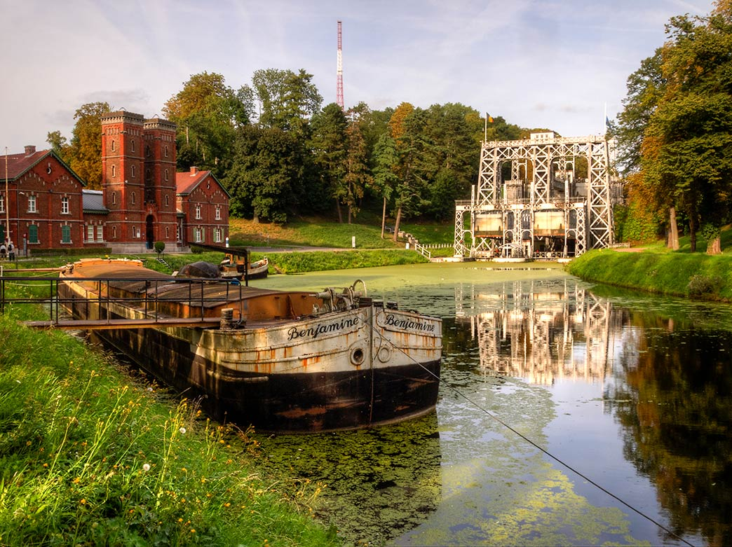 historic Canal du Centre, Wallonia