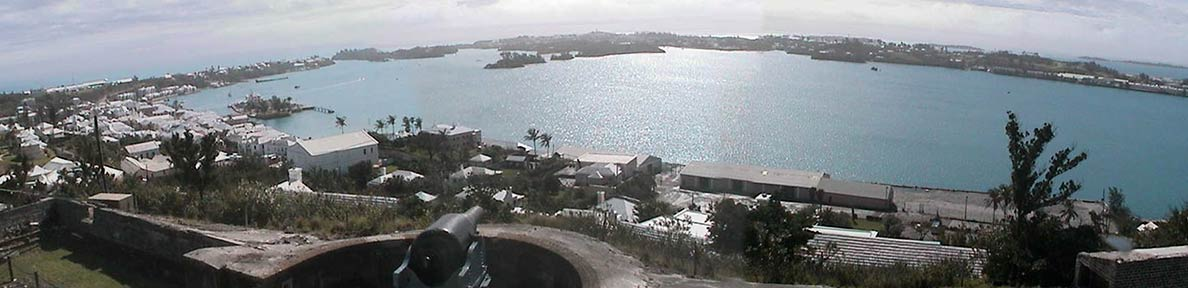 View from Fort George towards St. David's Island, Bermuda