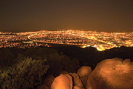 Gaborone at night