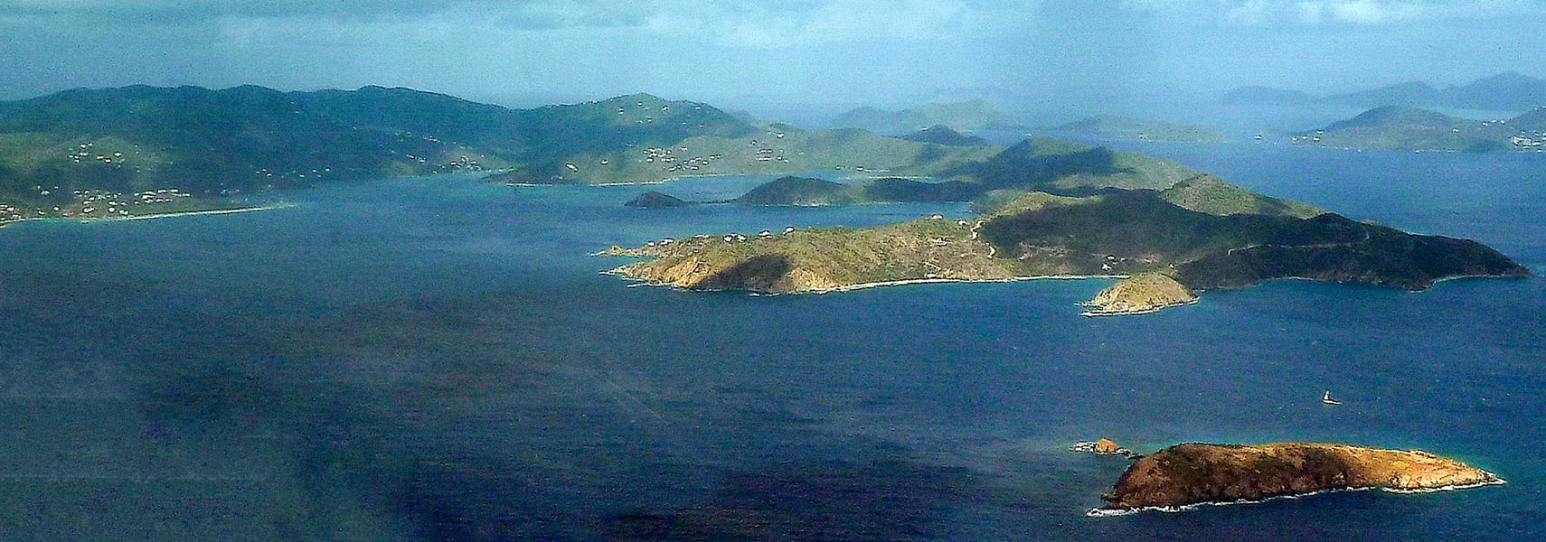Aerial View Of St John British Virgin Islands