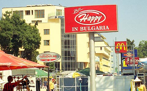 Sunny Beach seaside resort in Bulgaria