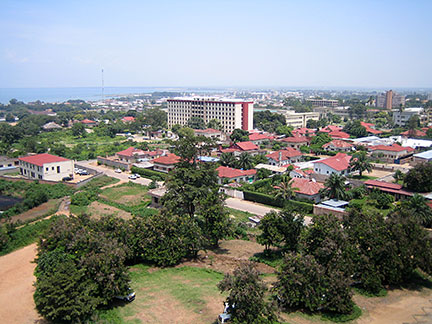 Bujumbura with Lake Tanganyika
