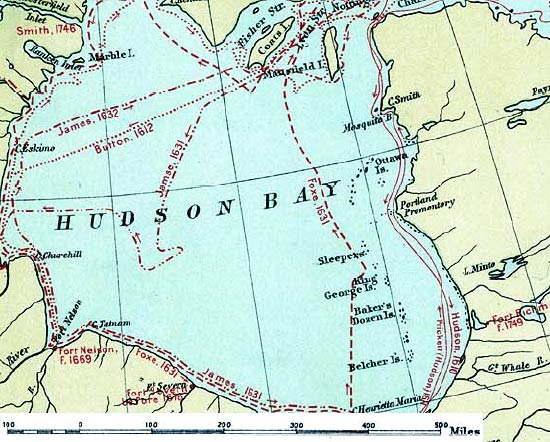 Map of Hudson Bay