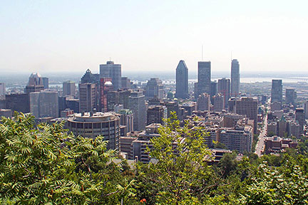 Downtown Montreal, province of Quebec