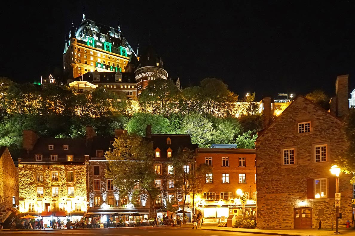 View of Old Quebec, a UNESCO World Heritage Site in Quebec province of Canada