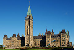 Parliament building on Parliament Hill, Ottawa