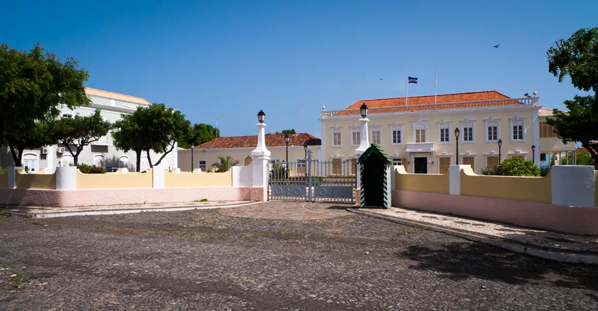 Presidential palace in Praia on the island of Santiago, Cape Verde