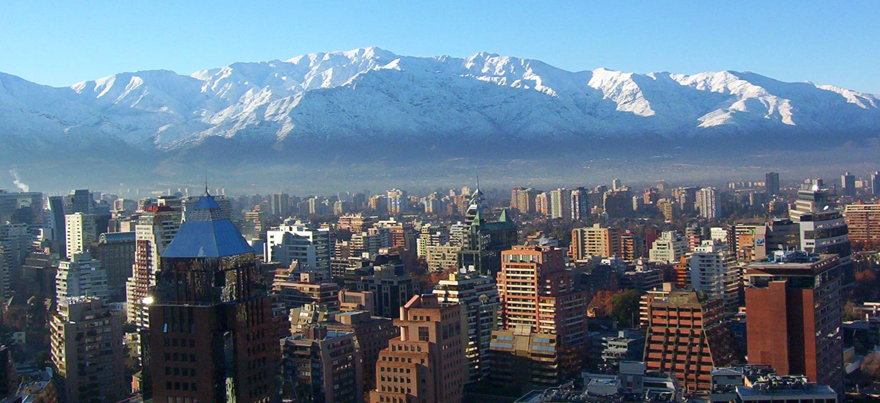 Google Map of Santiago de Chile Chiles capital city Nations