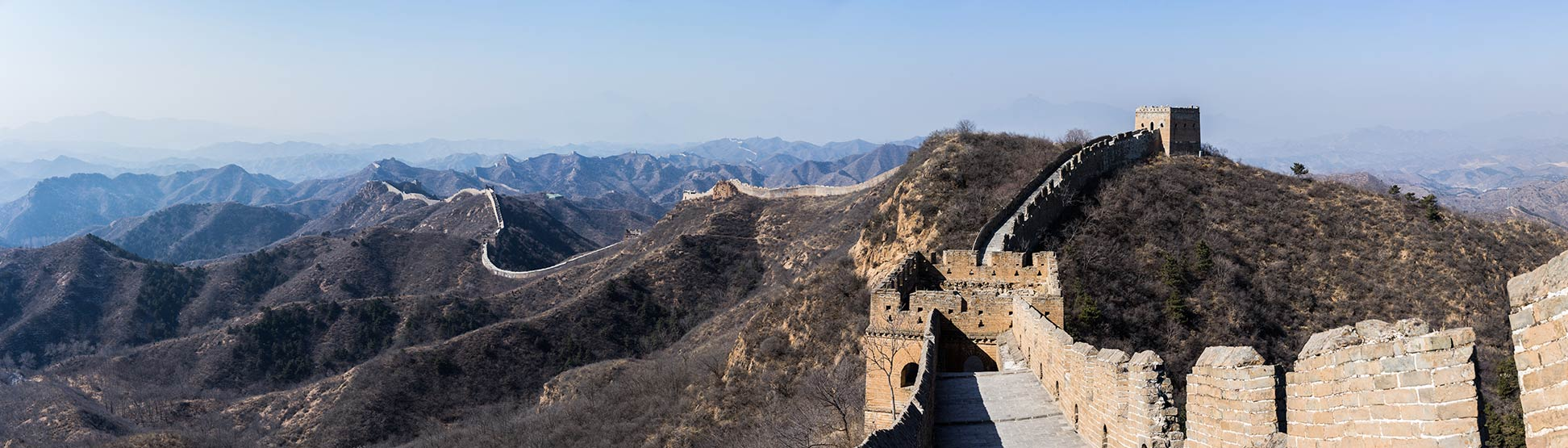 Meandering Great Wall of China
