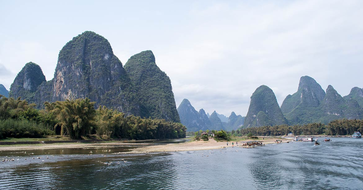 Karst mountains at Li River, Guangxi