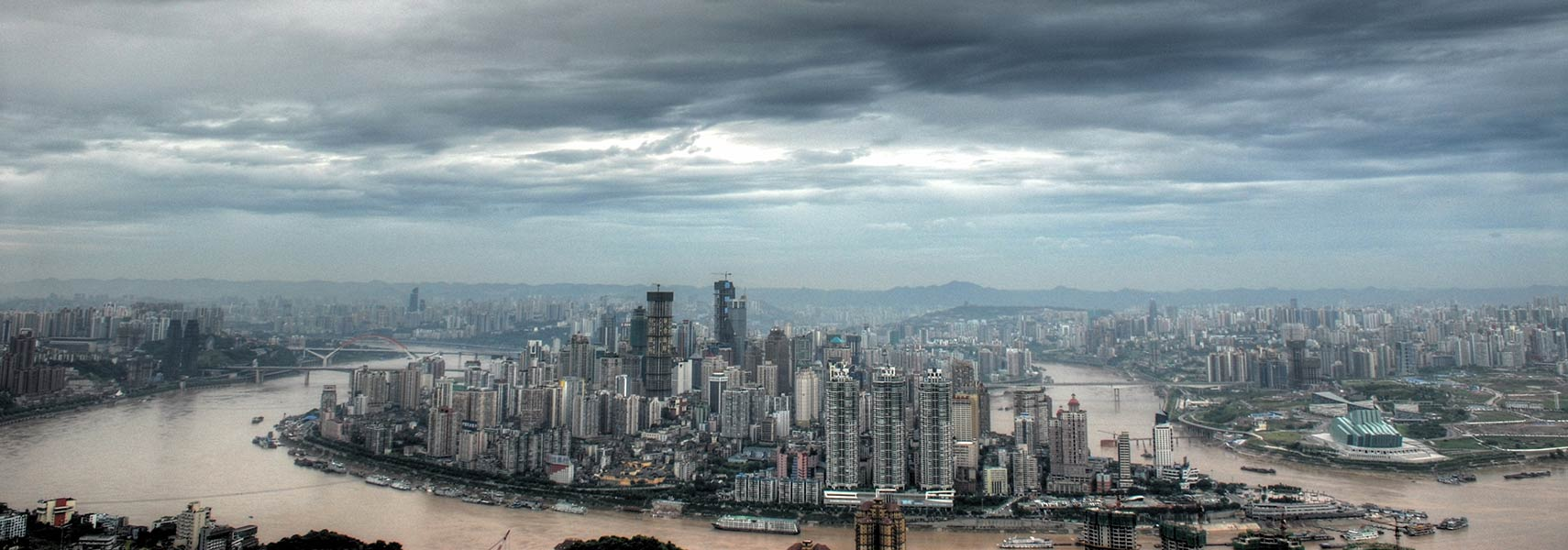 Skyline of Chongqing, China