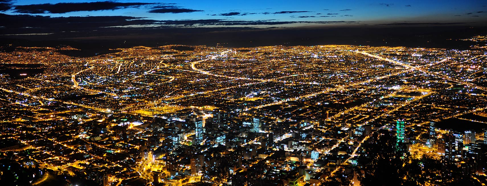 google map of the city of bogotá bogota colombia nations online