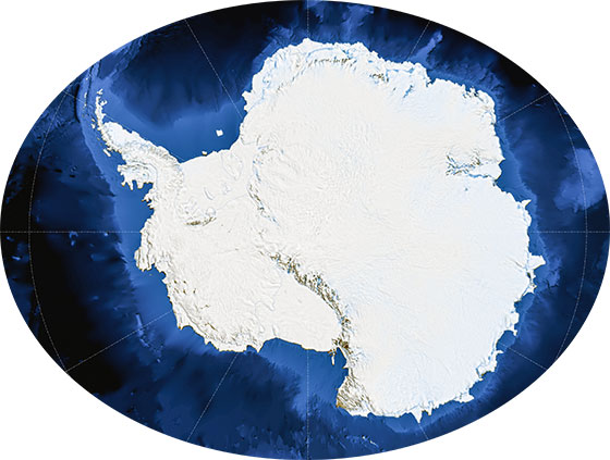 The Continent of the Antarctica