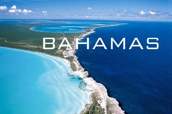 Aerial view of Eleuthera Glass Window Bridge, Bahamas