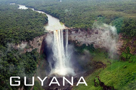 Potaro River and Kaieteur Falls in Guyana