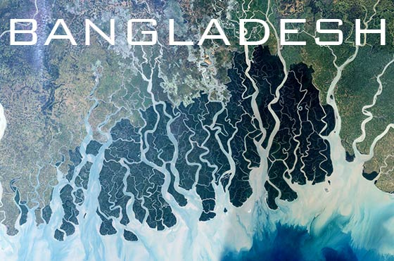 Satellite view of Sundarbans, Bangladesh