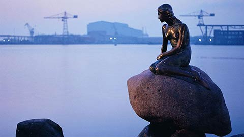 Danish Mermaid by Edvard Eriksen, Copenhagen