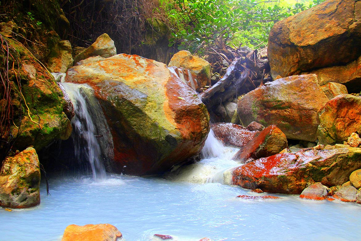 Geothermal Pools and Waterfalls, Dominica