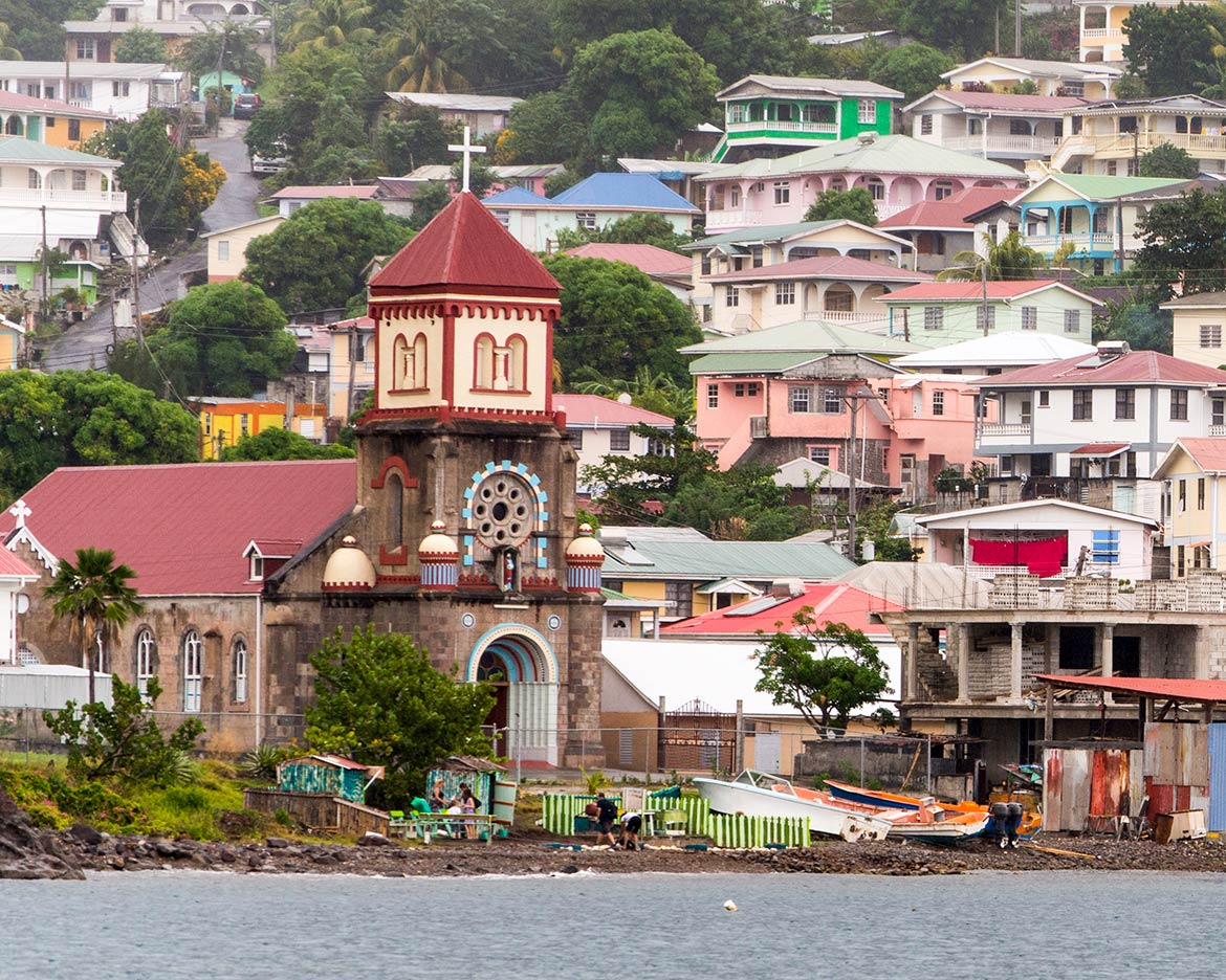 Soufrière, capital of Saint Mark Parish, Dominica