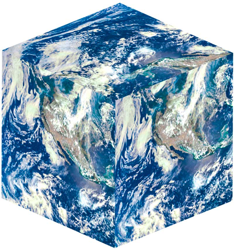 Planet Earth as a cube