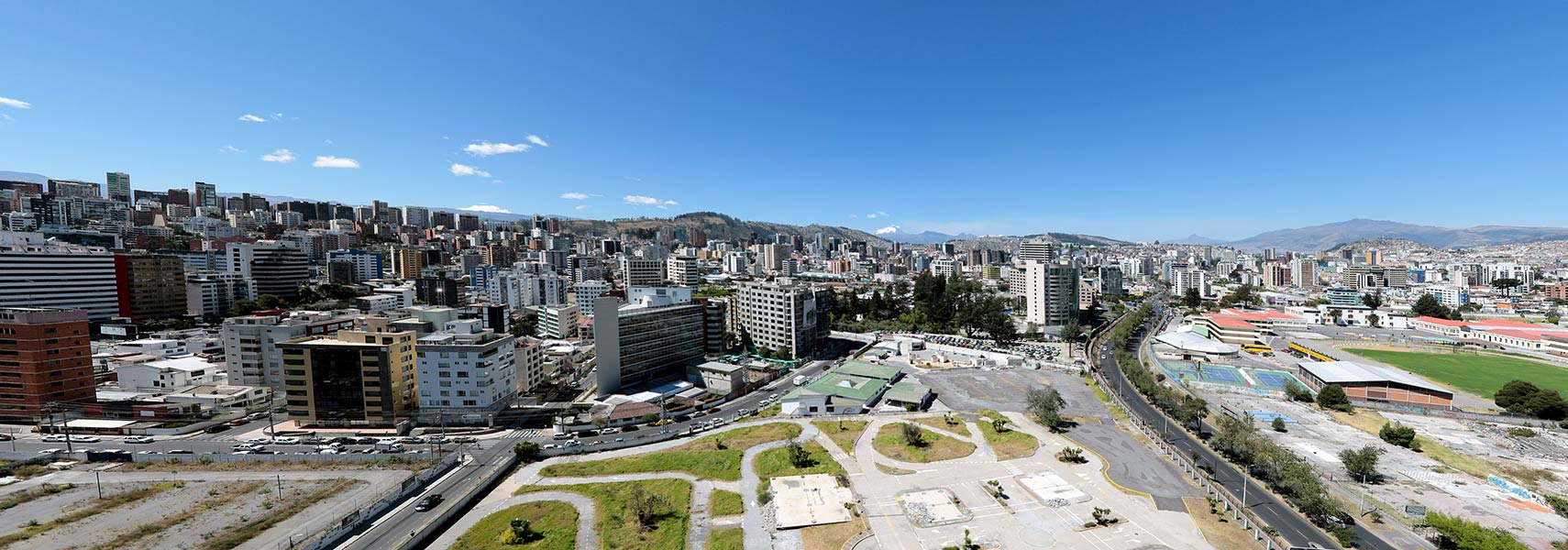 Panorama of Quito, capital city of Ecuador